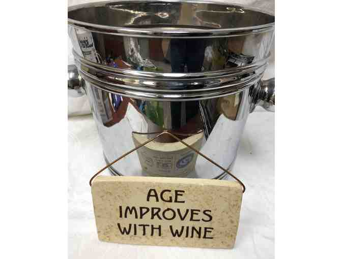 Champagne Ice Bucket and Wine Placard