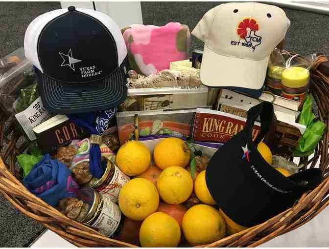 Assorted Fruits and Texas Goods, Gift Basket
