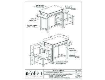 Follett Signature Series Stacking Clothing Table Fixture
