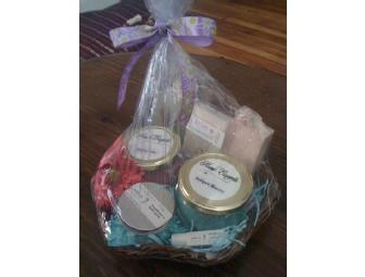 Gift Basket of Locally Handmade Soaps & Soy Candles