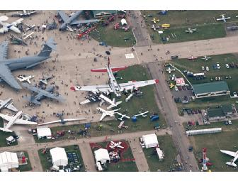 EAA AirVenture Oshkosh viewed by EAA's B-17, Ford Tri-Motor and Bell Helicopter