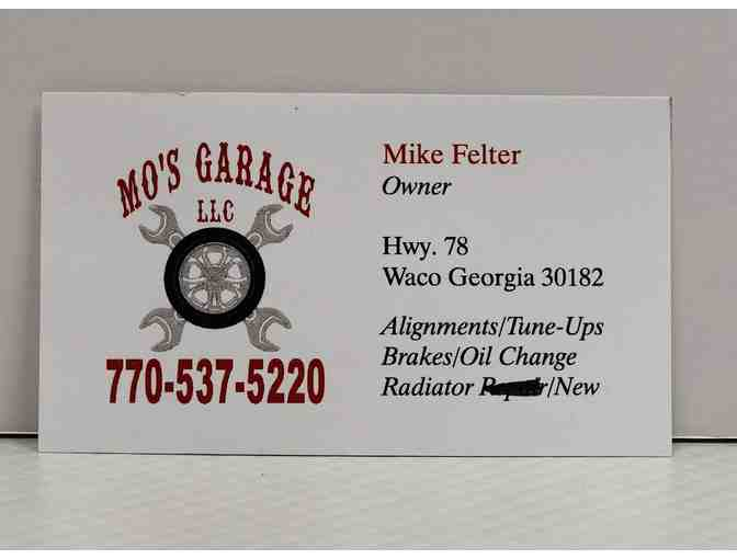 (1) Oil Change by Mo's Garage