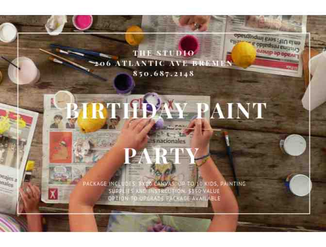 Birthday Paint Party at The Studio