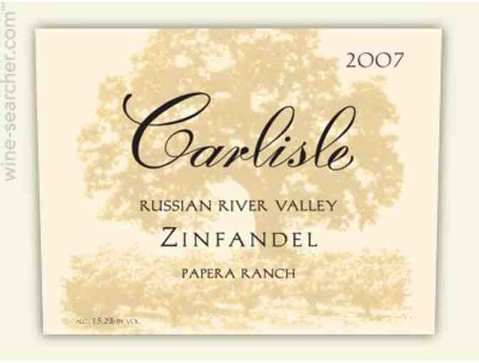 WINE LOT: 4 bottles of Carlisle Winery Zinfandel 'Papera Ranch' Russian River Valley