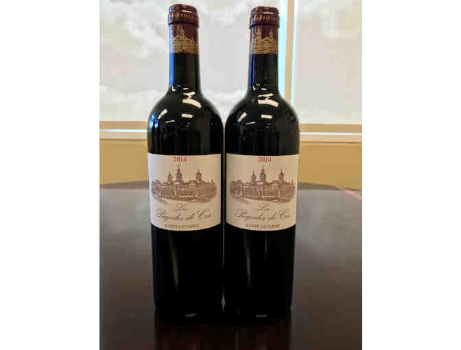 WINE: 2 bottles of Le Pagodes de Cos Saint-Estephe 2014