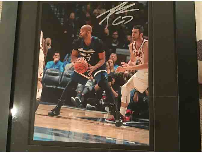 Framed 8x10 Signed Taj Gibson Photograph