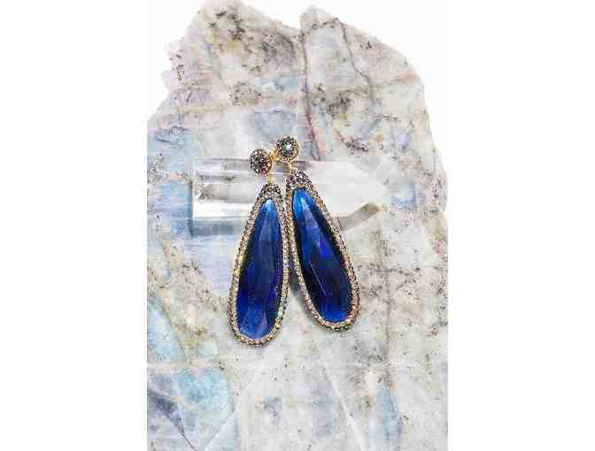 Radiant Blue Quartz Everything Earrings