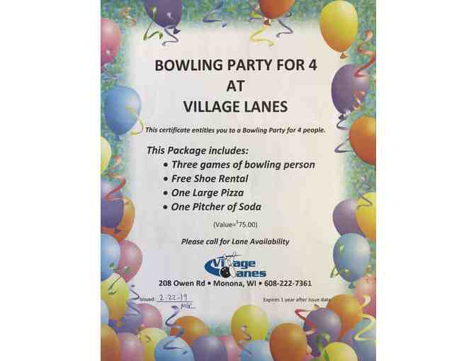 Bowling Party for 4 at Village Lanes