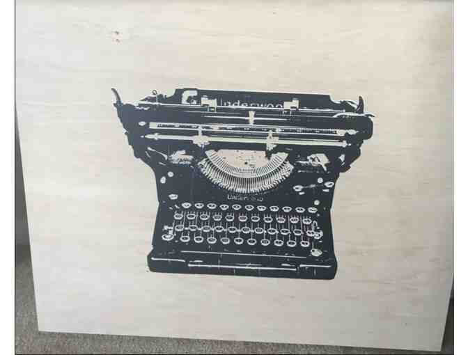 Typewriter, acrylic screenprint