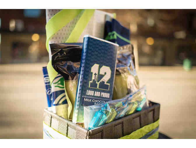 Seahawks Snacks & Swag Basket