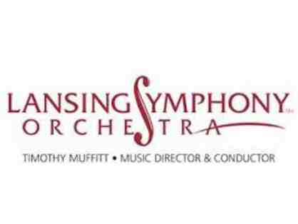 Two Tickets to a Lansing Symphony Orchestra  Concert