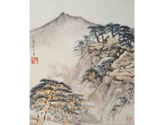 Framed, Original Chinese Brush Painting by JQES Teacher, Mr. Xie