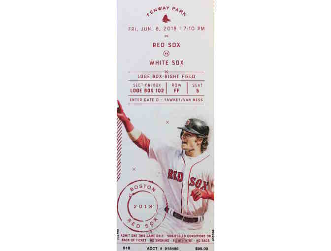 Pair of Red Sox vs White Sox Loge Box tickets - Fri., June 8, 2018 at 7:10pm