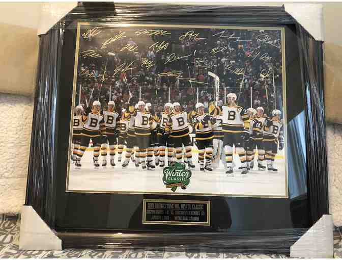 2019 Winter Classic Bruins Photo, Framed and Autographed