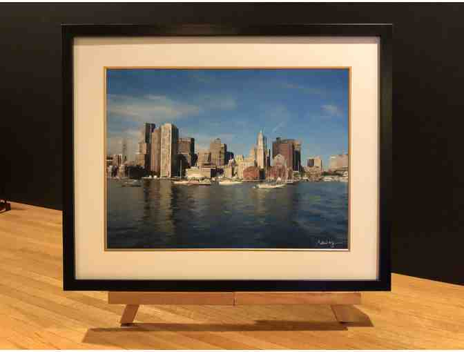 Boston Waterfront Painting by local artist Peter Ng