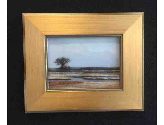 Touch of Snow ( Parsons Beach)   - Original Pastel by Suzanne M. Payne