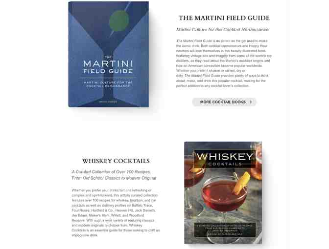 Martini Field Guide & Whiskey Cocktails - Books from Cider Mill Press
