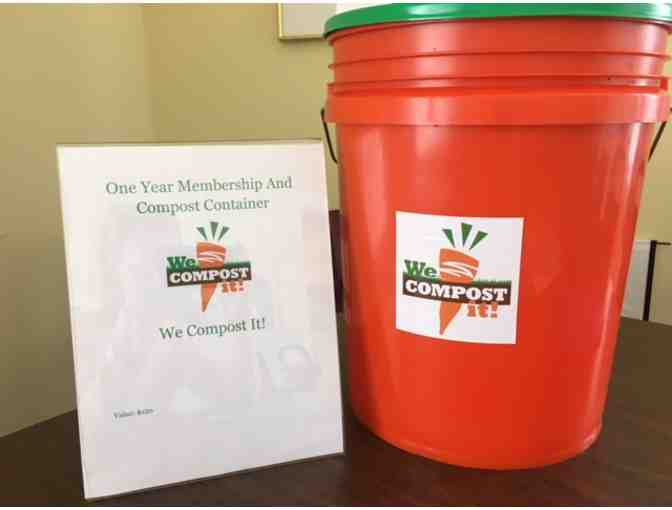 Gift Certificate for 1 yr 'We Compost It' membership. Bucket included.