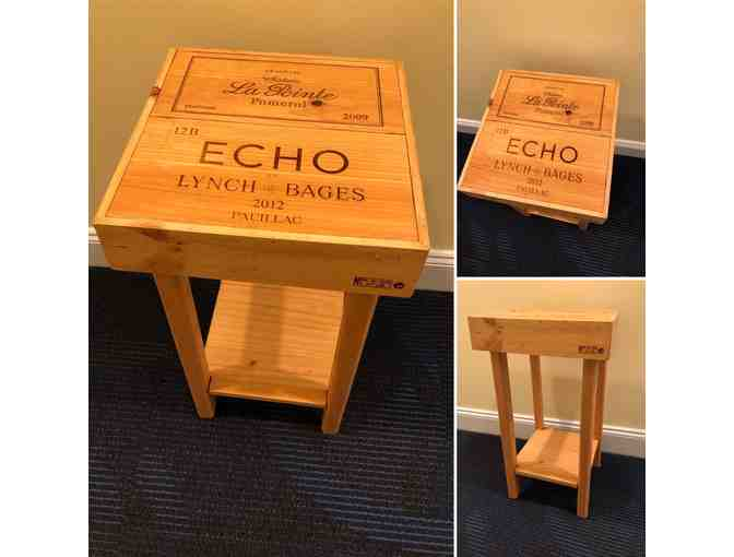 Side Table made from Wine Boxes