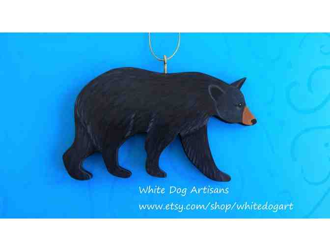 Hand painted and crafted Bear Ornament by Artist Gail Lynde