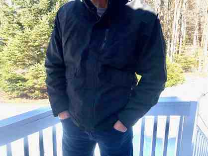 Men's Black, Nylon, Raincoat from Mountain Khakis - Size Large