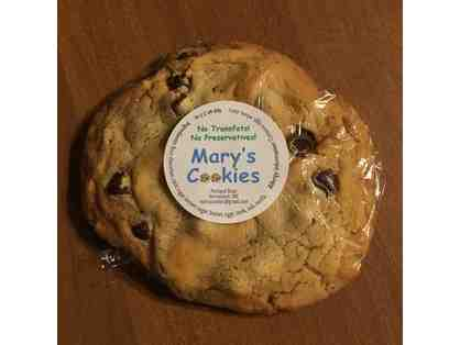 1 dozen of Mary's Cookies  freshly baked choc. chip cookies ready to GO or shipped free!!