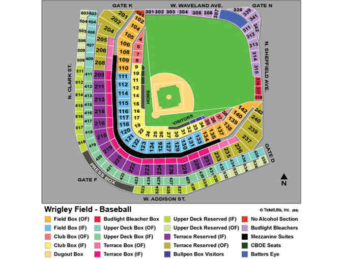 Milwaukee Brewers @ Cubs; Saturday, August 3rd - 4 Tickets