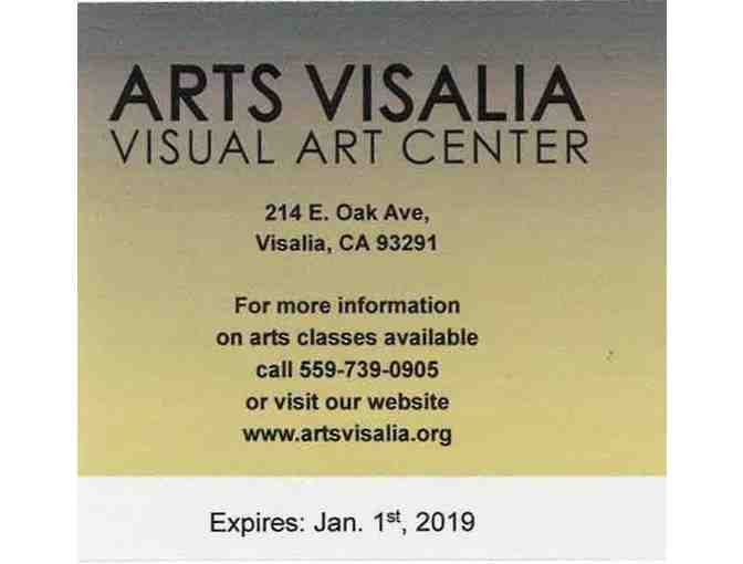 Gift certificate for $50 in art classes at Arts Visalia