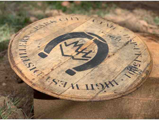 Mark Miller Collection - High West Whiskey Barrel Top Lazy Susan