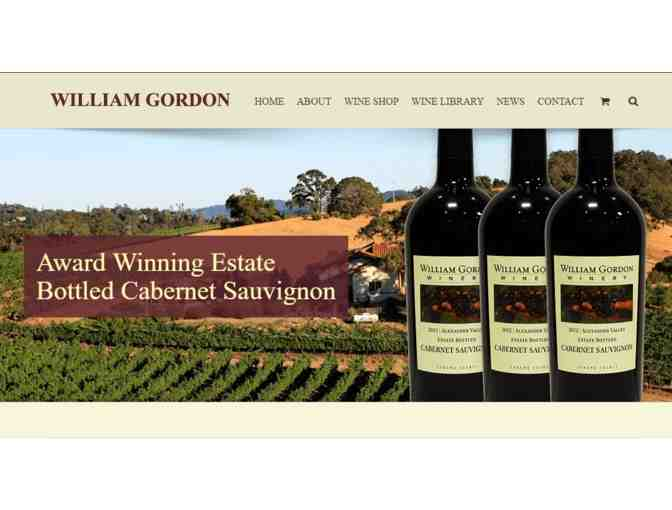 Case Double Vertical Set Cabernet Sauvignon, William Gordon Winery, Cloverdale