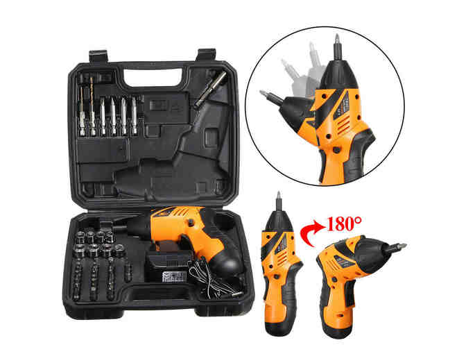 45 in 1 Power Tool Rechargeable Cordless Electric Screwdriver Drill Kit Wireless - Photo 1