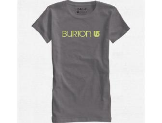Burton Her Logo T-Shirt - Heather Grey Medium