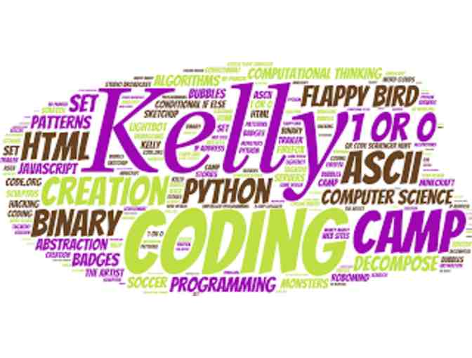 Free registration for 2 at Kelly Coding and Creation Camp, Summer 2018