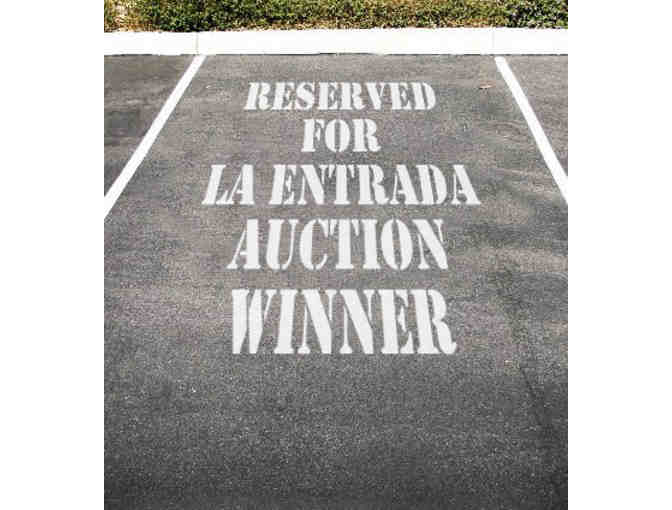 Reserved Parking Space at La Entrada for 2018-19 School Year