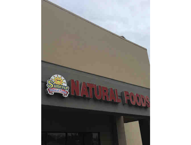 Sunrise Natural Foods -  $50.00 gift card