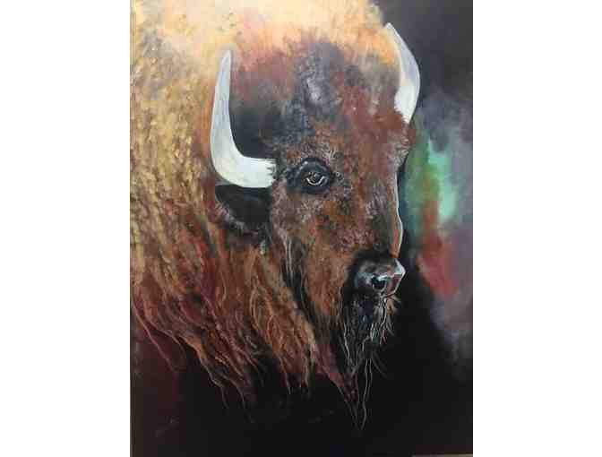 'Curly Buffalo' Original Acrylic Painting