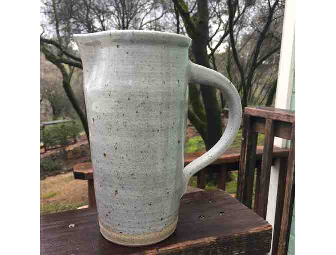 Grey/Green Ceramic Water Pitcher
