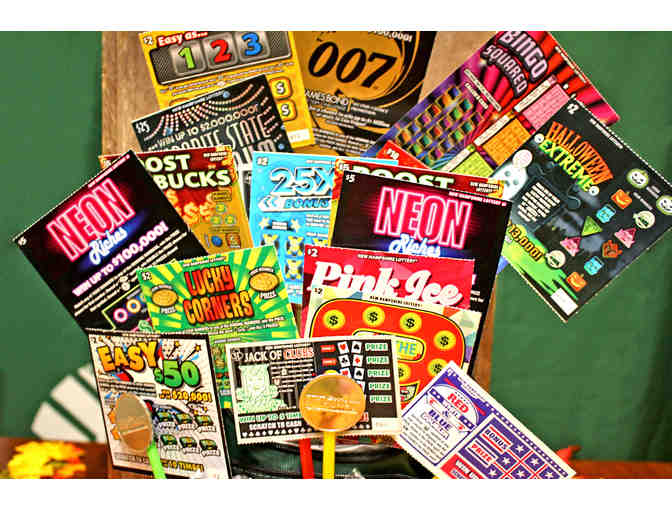 $100 Lottery Scratch Ticket Bag