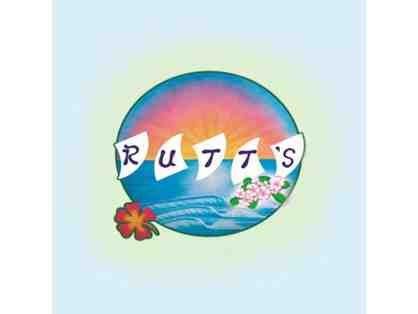 Rutt's Hawaiian Cafe $25 gift card PLUS swag