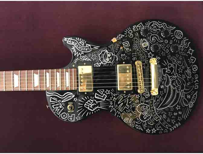 BURTON MORRIS Creates Your Very Own Personalized Biography on a Les Paul Guitar - Photo 1