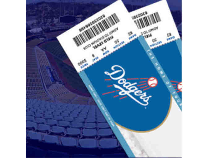 4 Dodger Tickets in Section 10 Field Level - Photo 1
