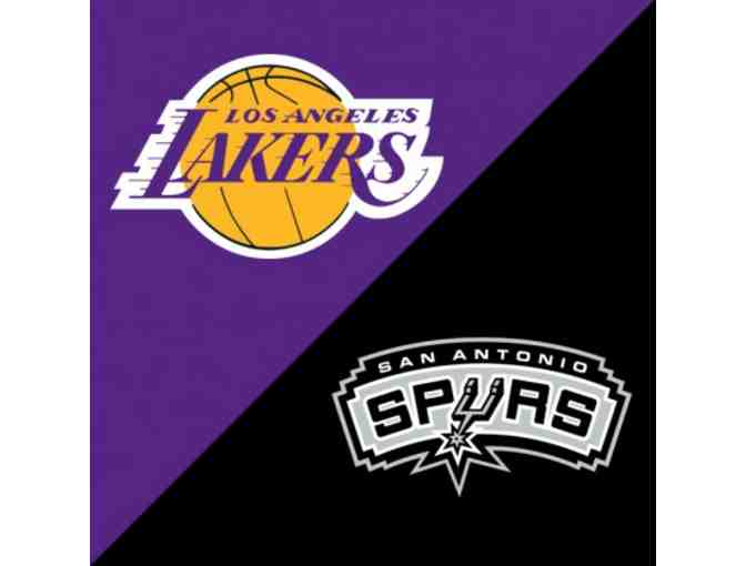 Los Angeles Lakers Vs. San Antonio Spurs Tickets on April 4 - Photo 1