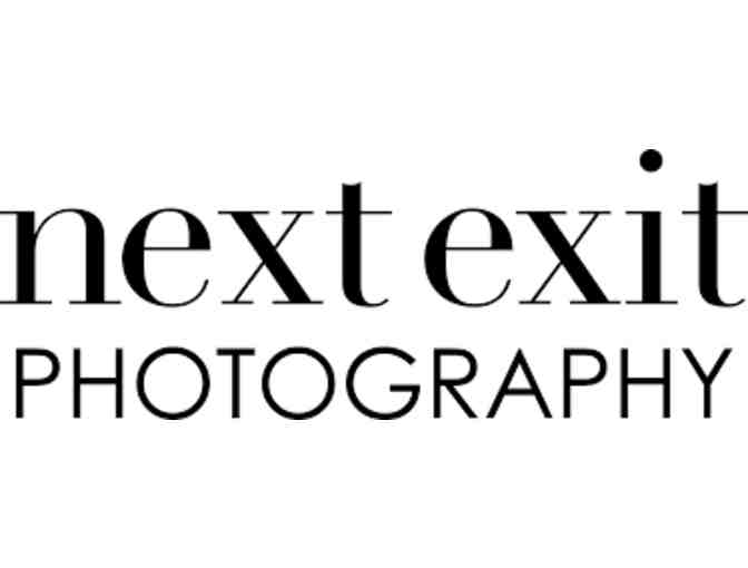 Gift Certificate for family portrait session with Next Exit Photography