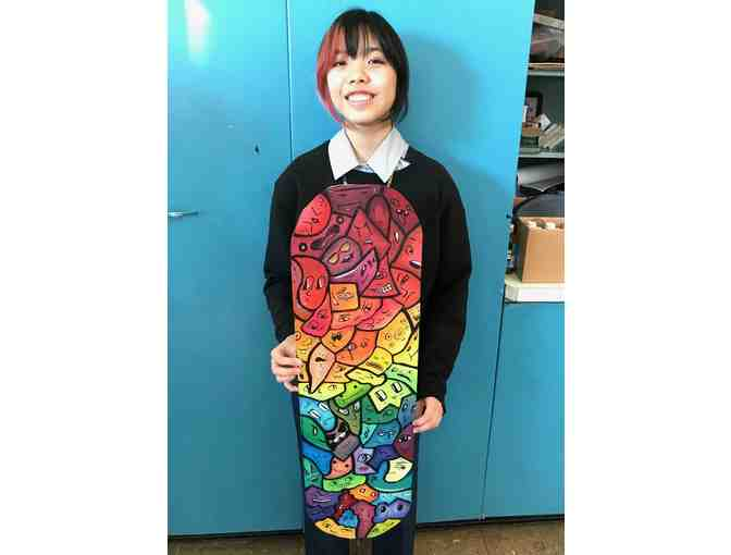 Original Skateboard Artwork by Lane Student, Angela Achanzar