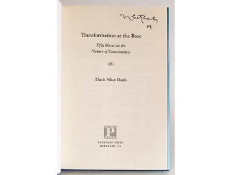 Parallax Press: Thich Nhat Hanh's signed 'Transformation at the Base'