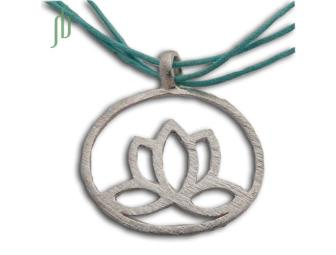 Shanti Boutique: Enlightenment Lotus Necklace in Sterling Silver
