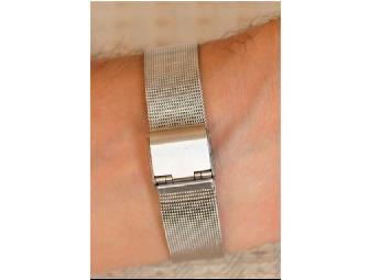 Blue Cliff Monastery's Thich Nhat Hanh-inspired 'It's Now' Silver Mesh Mens Watch