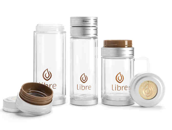 Libre:  Glass-and-Poly Tea Mug Assortment