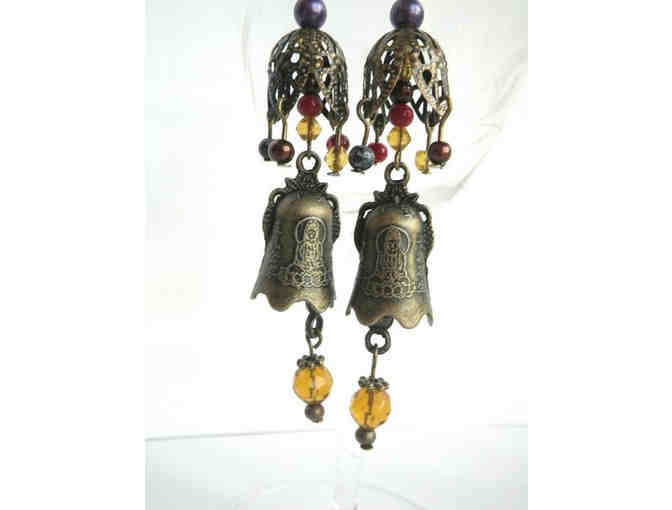 Bohemia1973: Vintage-Style 'Buddha Bells' Earrings