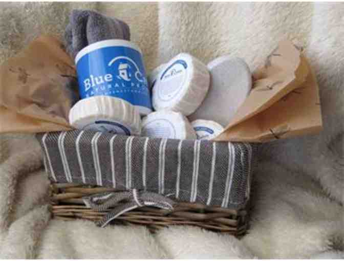 Blue Cabin Natural Products: Gift Basket of Handmade Soaps and Accessories